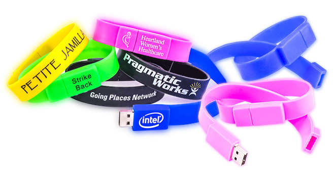 Classic Wristband Bracelet USB Flash Drive