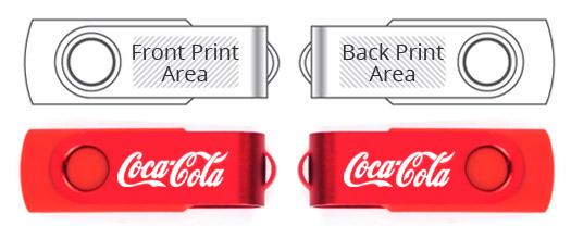 Die Cast Metal Swivel USB Flash Drive Tech Specs