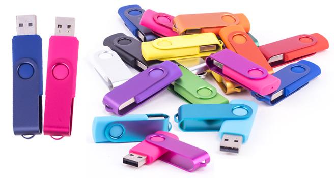 Die Cast Metal Swivel USB Flash Drive