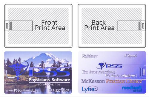 Flip Business Card USB Flash Drive Tech Spech