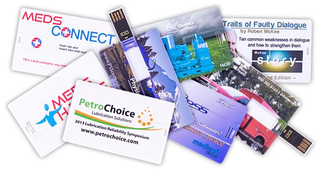 Flip Business Card USB Flash Drive