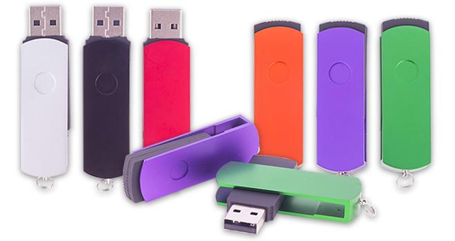 Metal Twister Swivel USB Flash Drive