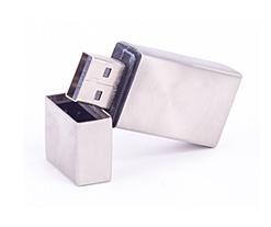 Polished Metal Steel Cap USB Flash Drive Category